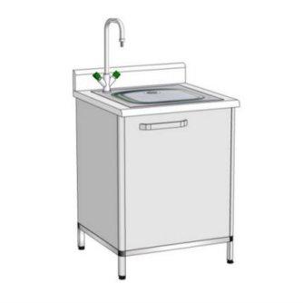 Модуль пристінний з мийкою ПММ-1 (мийка лабораторна)
