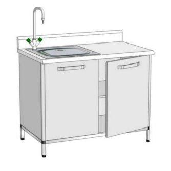 Модуль пристінний з мийкою ПММ-2 (мийка лабораторна)