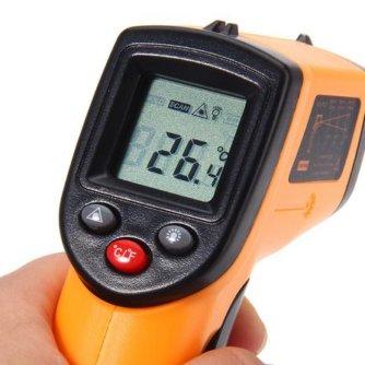 Цифровой лазерный бесконтактный измеритель температуры GM320