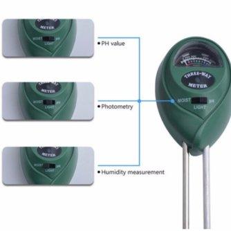 Тестер грунту G104 (рH кислотність, освітлення, вологість)