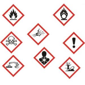 Загальні символи небезпеки хімічних реактивів