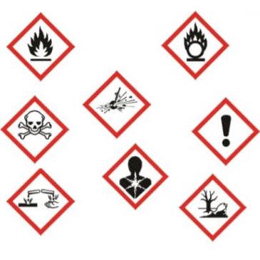 Общие символы опасности химических реактивов
